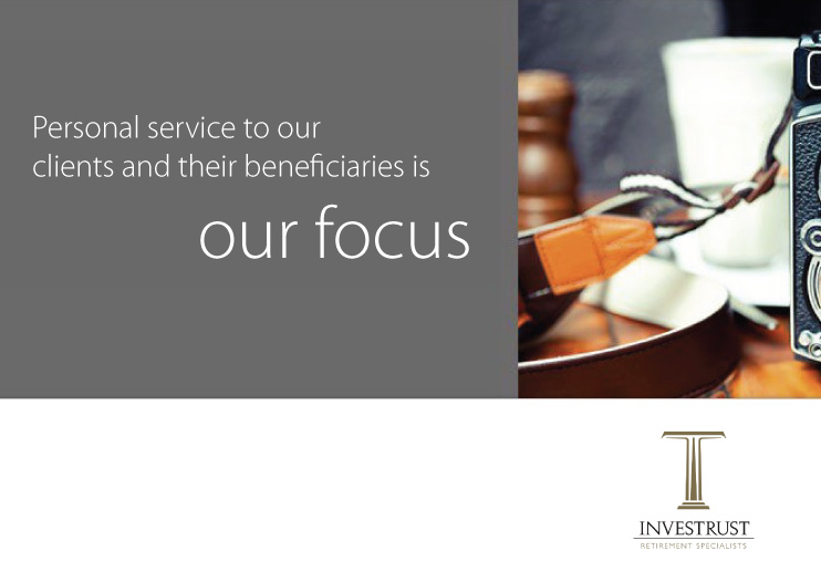personal service to our clients and their beneficiaries is our focus investrust logo in corner